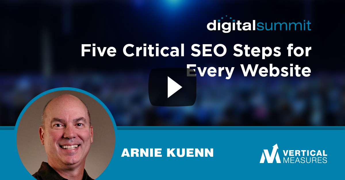 Five Critical SEO Steps for Every Website – Arnie Kuenn