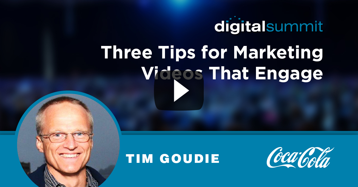 Three Tips for Marketing Videos That Engage – Tim Goudie
