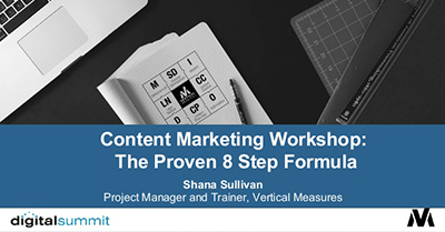 Content Marketing Workshop: The Proven 8 Step Formula