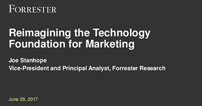 Reimagining the Technology Foundation for Marketing