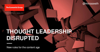 Thought Leadership Disrupted
