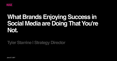 What Brands Enjoying Success in Social Media are Doing That You're Not
