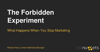 The Forbidden Experiment: What Happens When You Stop Marketing
