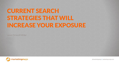 Current Search Strategies That Will Increase Your Exposure