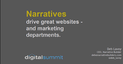 Narratives Drive Great Websites—and Marketing Departments