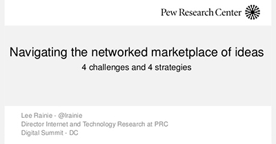 Successfully Navigate the Networked Marketplace of Ideas