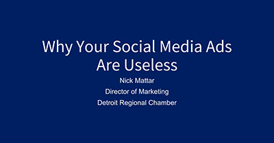 Why Your Social Media Ads Are Useless