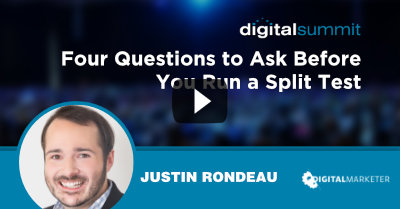 Four Questions to Ask Before You Run a Split Test - Justin Rondeau