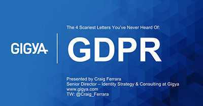 The Four Scariest Letters You've Never Heard Of – GDPR