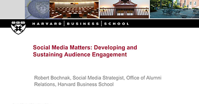 Social Media Matters: Developing and Sustaining Audience Engagement