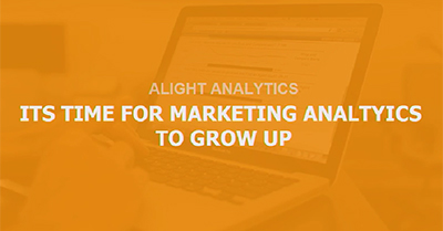 Time for Marketing Analytics to Grow Up