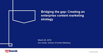 Breaking Down Walls: Creating a True Enterprise Content Marketing Strategy