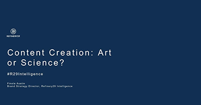 Content Creation – Art or Science?