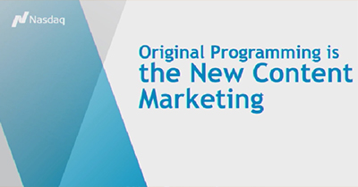 Original Programming is the New Content Marketing