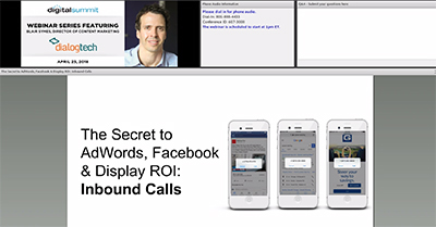 The Secret to AdWords, Facebook, and Display ROI: Inbound Calls