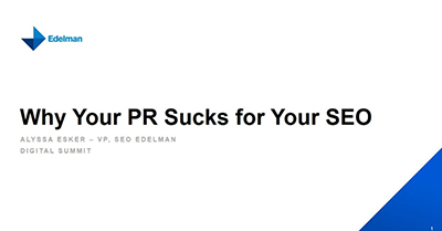Why Your PR Sucks for Your SEO