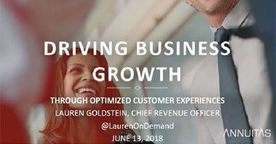 Customer Experience as the Lever to Drive Demand Generation – And Revenue