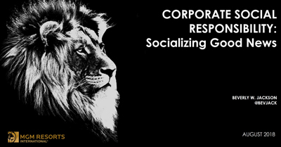 Corporate Social Responsibility: Socializing Good News
