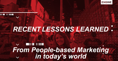 Lessons Learned from People-Based Marketing in Today's Privacy Sensitive World