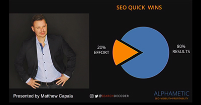 SEO Quick Wins: 20% of Actions for 80% of Results