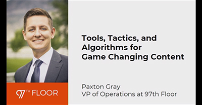 Tools, Tactics, and Algorithms For Game Changing Content