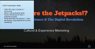 Where are the Jetpacks!? Real Life Experience and the Digital Revolution