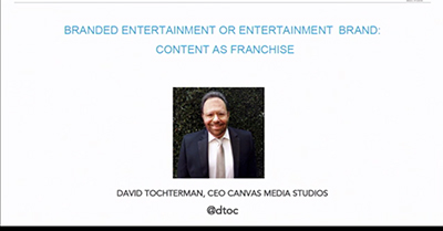 Branded Entertainment or Entertainment Brand: Content As Franchise
