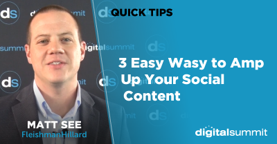 3 Easy Wasy to Amp Up Your Social Content