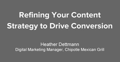 Refining Your Content Strategy to Drive Conversion