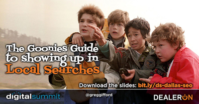 The Goonies Guide to Showing up in Local Searches