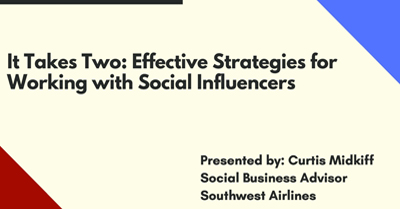 It Takes Two: Effective Strategies for Working with Social Influencers