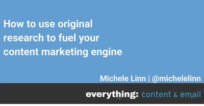 How to Use Original Research to Fuel Your Content Marketing Engine