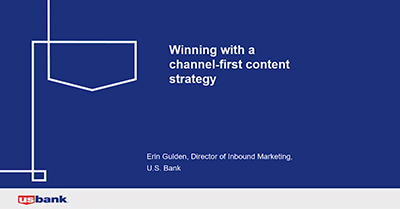 Winning with a Channel-Specific Content Program