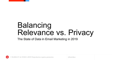 Balancing Relevance vs. Privacy: The State of Data in Email Marketing in 2019