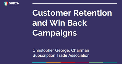 Consumer Retention and Win Backs for Subscription Models