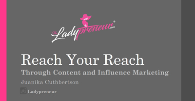 Extend Your Reach through Content & Influence Marketing