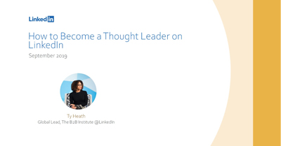 How to Become a Thought Leader on LinkedIn