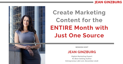Create Marketing Content for the ENTIRE Month with Just One Source
