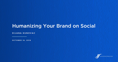 Humanizing Your Brand on Social