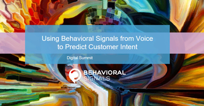 Using Behavioral Signals From Voice to Predict Customer Intent