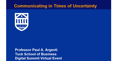 Communicating in Times of Uncertainty