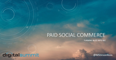 Paid Social Commerce: Turning Buzz into Biz