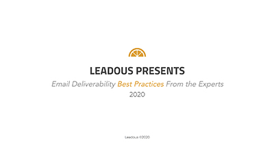 Email Deliverability: Best Practices From The Experts