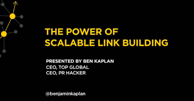 The Power of Scalable Link Building