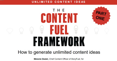 Content Fuel Framework: How to Generate Unlimited Content Ideas