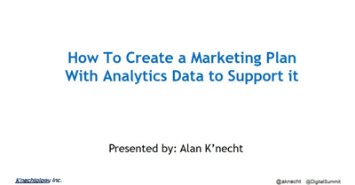 How To Create a Marketing Plan With Analytics Data to Support It