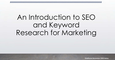 An Introduction to SEO and Keyword Research for Marketing