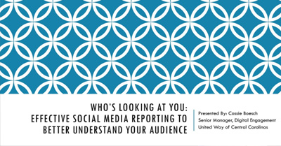 Who's Looking at You: Effective Social Media Reporting to Better Understand Your Audience