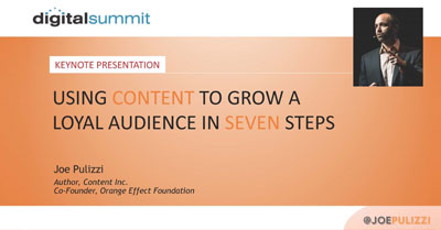 Keynote: Using Content to Grow a Loyal Audience in Seven Steps