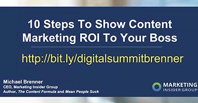 10 Steps to Show Content Marketing ROI to Your Boss
